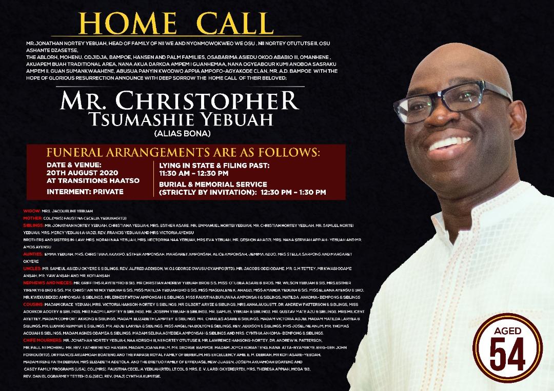 Christopher Tsumashie Yebuah a.k.a Bona