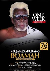 Mr. James Akurang Boamah